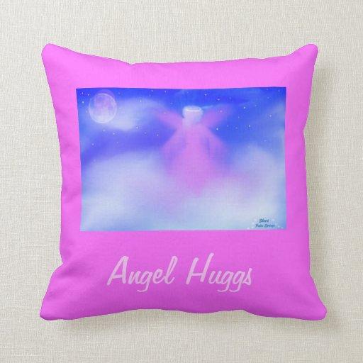 Angel Hugss Throw Pillows