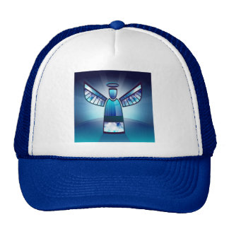 Angel In Blue Stained Glass Cap