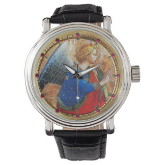ANGEL IN GOLD RED AND BLUE WATCHES