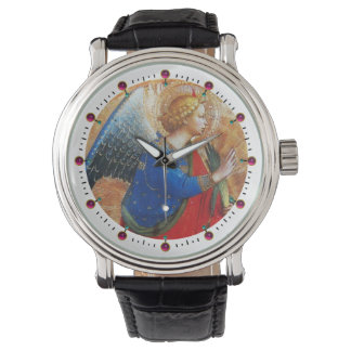 ANGEL IN GOLD RED AND BLUE WRIST WATCHES