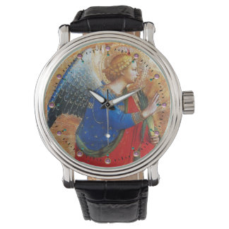 ANGEL IN GOLD RED AND BLUE WRISTWATCHES