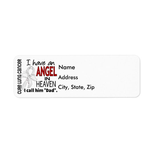 Angel In Heaven Dad Lung Cancer Return Address Label