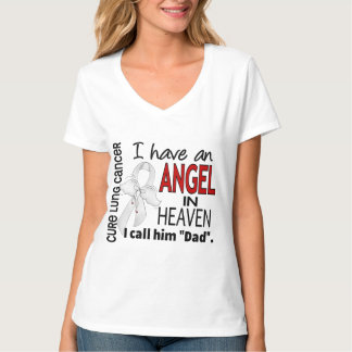 Angel In Heaven Dad Lung Cancer Tee Shirt