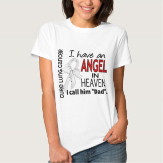 Angel In Heaven Dad Lung Cancer Tee Shirts