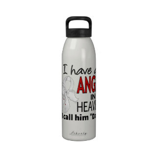Angel In Heaven Dad Lung Cancer Water Bottle