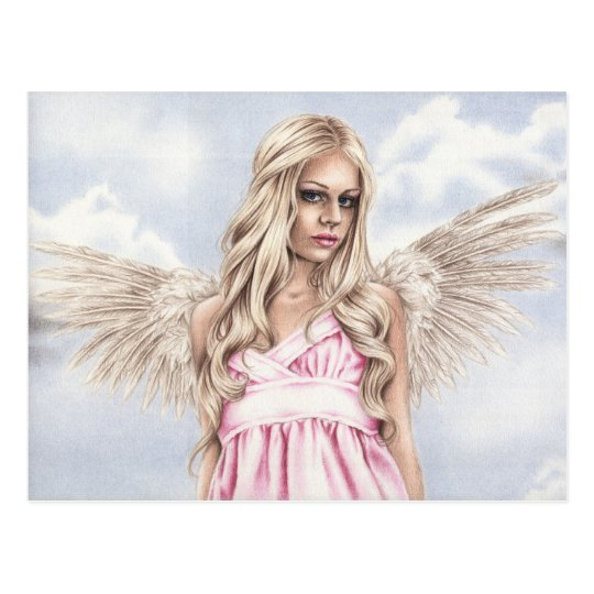 Angel in pink Postcard