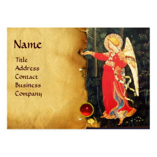 ANGEL IN RED AND GOLD BUSINESS CARD TEMPLATE