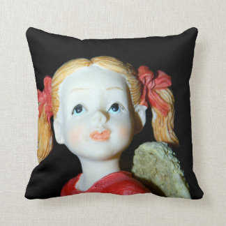 Angel in Red Ribbons Throw Pillow Cushions