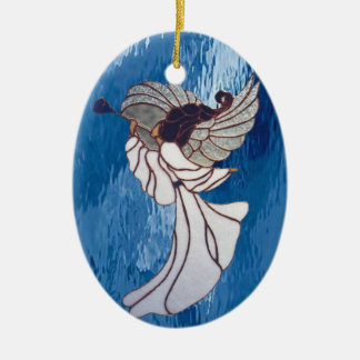 Angel in Stained Glass Christmas Ornament