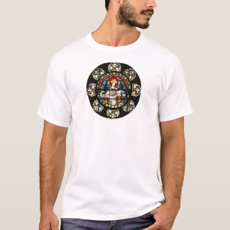 Angel in Stained Glass Window Art T-Shirt