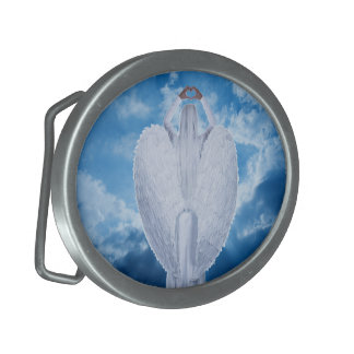 Angel in the clouds belt buckle