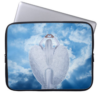 Angel in the clouds laptop sleeve