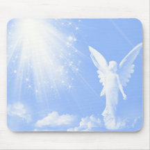 Angel In The Clouds Mouse Pads