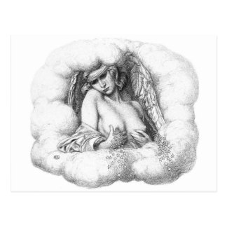 Angel in the Clouds postcard
