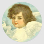 Angel in the Clouds Round Sticker