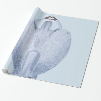 Angel in the clouds wrapping paper