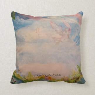Angel in the field throw cushions