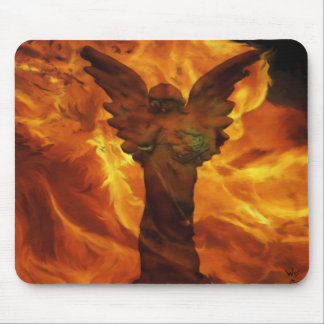 Angel in the Fire Mouse Pad