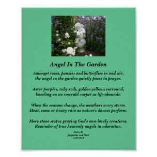 Angel In The Garden Poetry Poster