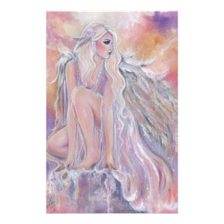 Angel in the morning sun by Renee Lavoie Stationery