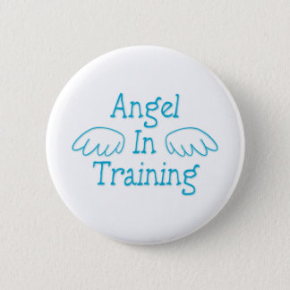 Angel in Training 6 Cm Round Badge