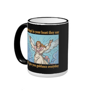 ANGEL IN YOUR HEART RINGER COFFEE MUG