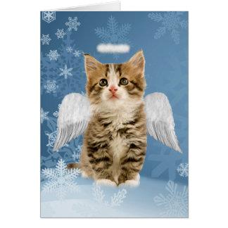 Angel Kitten Christmas Card