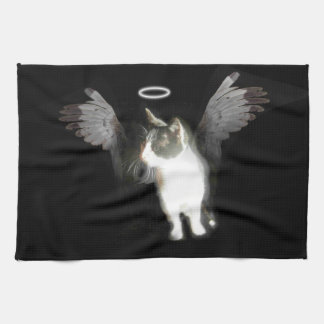 Angel Kitten Tea Towel