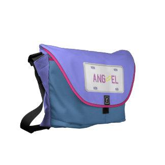Angel License Plate Messenger Bag