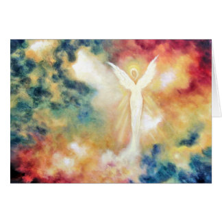 """Angel Light"" Fine Art Greeting Card"