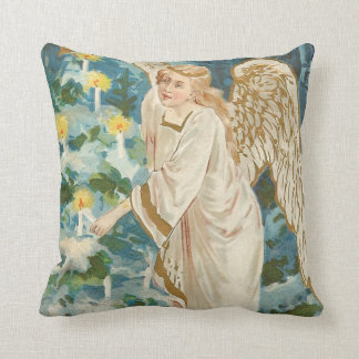 Angel Lighting Candlelit Christmas Tree Cushion