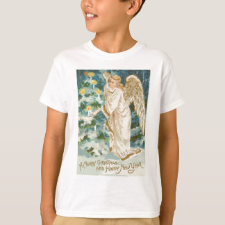 Angel Lighting Candlelit Christmas Tree T-Shirt