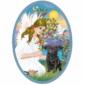 Angel Love - Black Pug Photo Cut Outs