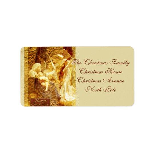 Angel Love Christmas Label