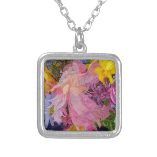 Angel Love Silver Plated Necklace