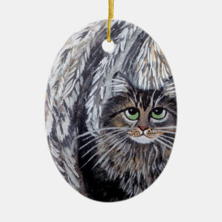 Angel Maine Coon Cat Ornament