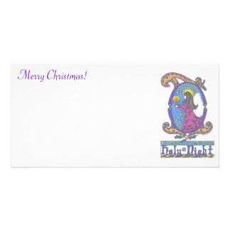 Angel,  Merry Christmas! Customized Photo Card