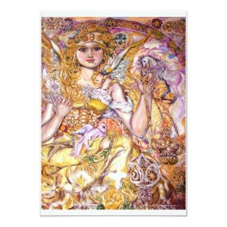Angel Moloney. 13 Cm X 18 Cm Invitation Card