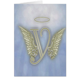 Angel Monogram Card