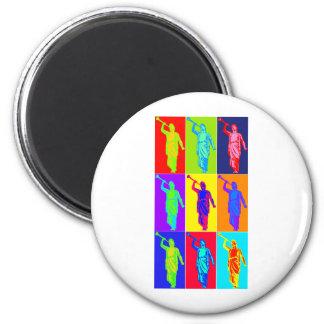 Angel Moroni Pop Art 6 Cm Round Magnet