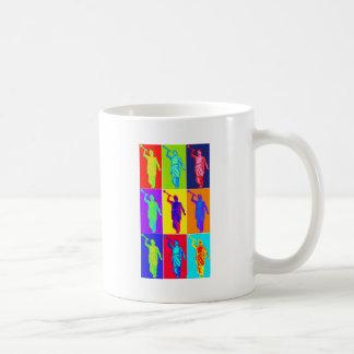 Angel Moroni Pop Art Basic White Mug
