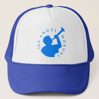 Angel Moroni Trucker Hat Blue