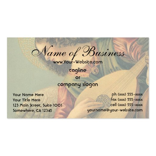 Angel Musician by Melozzo da Forlì Business Card Template