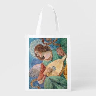 Angel Musician Reusable Grocery Bag