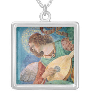 Angel Musician Silver Plated Necklace