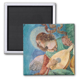 Angel Musician Square Magnet