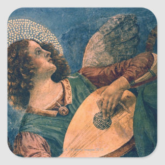 Angel Musician Square Sticker