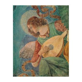 Angel Musician Wood Canvas