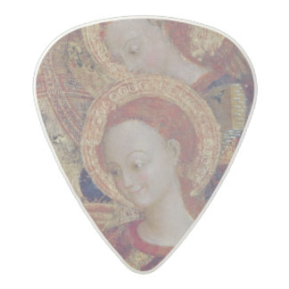 Angel musicians from painting of Virgin and Child Acetal Guitar Pick
