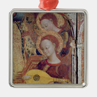 Angel musicians from painting of Virgin and Child Christmas Ornament